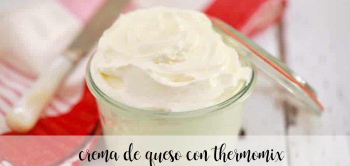 Crema de queso con Thermomix
