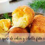 Croquetas de queso de cabra y cebolla frita con Thermomix