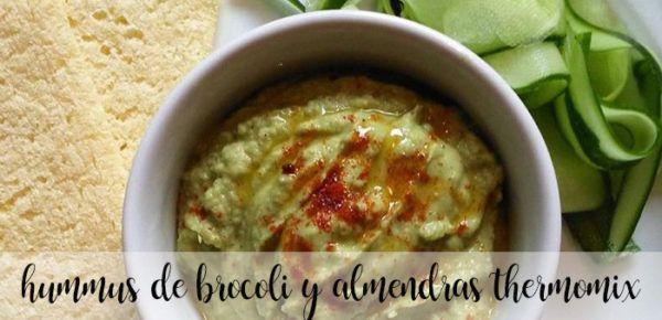 Hummus de brócoli y almendras con Thermomix