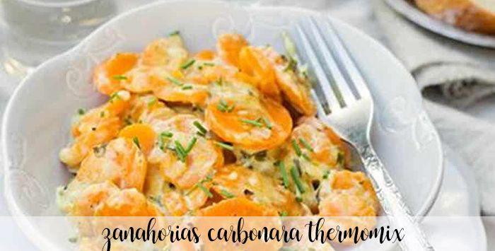 Zanahorias a la carbonara con thermomix