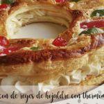 Roscón de Reyes de hojaldre con Thermomix