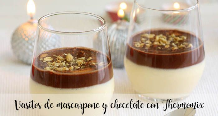 Vasitos de mascarpone y chocolate con Thermomix