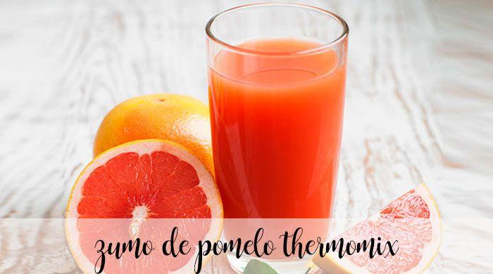 zumo de pomelo con thermomix