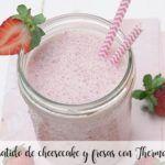 Batido de cheesecake y fresas con Thermomix