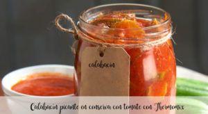 Calabacín picante en conserva con tomate con Thermomix