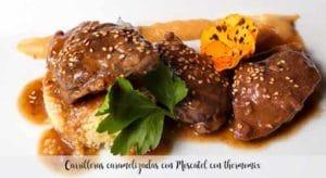 Carrilleras caramelizadas con Moscatel con thermomix