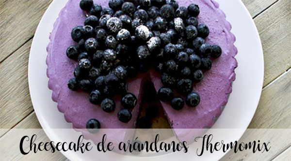 Cheesecake de arándanos Thermomix