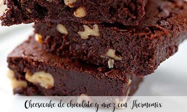 Cheesecake de chocolate y nuez con Thermomix