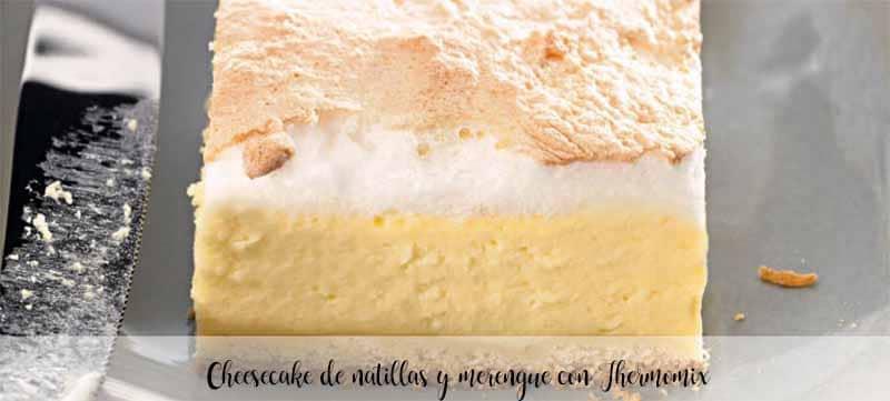 Cheesecake de natillas y merengue con Thermomix