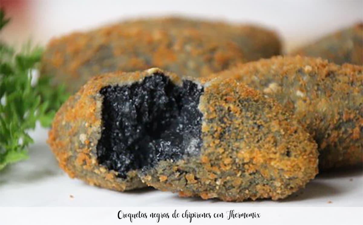 Croquetas negras de chipirones con Thermomix