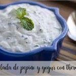 Ensalada de pepino y yogur con Thermomix