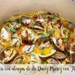 Espaguetis con almeja de Daviz Muñoz con Thermomix