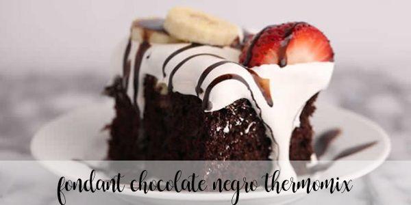 Fondant de chocolate negro con Thermomix