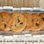 Galletas de avena, chocolate y manzana Thermomix