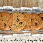 Galletas de avena, chocolate y manzana Thermomix