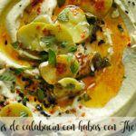 Hummus de calabacín con habas con Thermomix