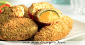 Jalapeños rebozados rellenos de queso con Thermomix