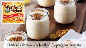 Panna cota de caramelos Werther's Originals con thermomix
