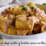Pasta con atún, ricotta y tomates secos con thermomix