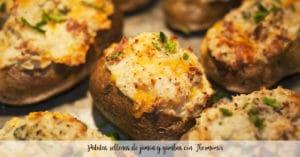 Patatas rellenas de jamón y gambas con Thermomix