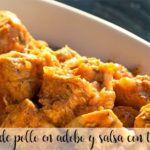 Pechuga de pollo en adobo y salsa con thermomix
