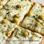 Pizza vegetariana sin gluten con thermomix