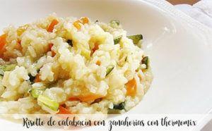 Risotto de calabacín con zanahorias con thermomix