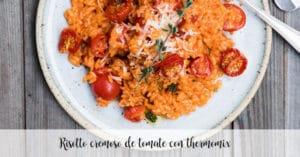 Risotto cremoso de tomate con thermomix