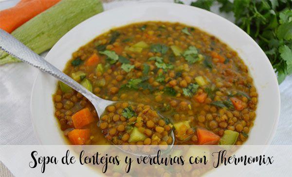 Sopa de lentejas y verduras con Thermomix