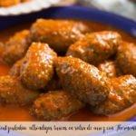 Soutzoukakia: albóndigas turcas en salsa de arroz con Thermomix