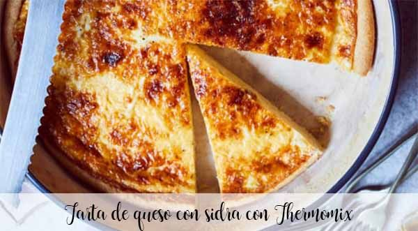 Tarta de queso con sidra con Thermomix