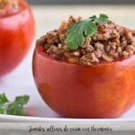 Tomates rellenos de carne con thermomix