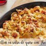 Tortellini en salsa de queso con Thermomix