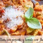 Tortellinis con pimiento y tomate con Thermomix