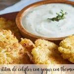 Tortitas de coliflor con yogur con thermomix
