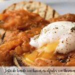 Tosta de tomate con huevos escalfados con thermomix