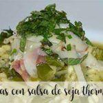 Acelgas en salsa de soja con Thermomix