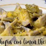Alcachofas al limón con thermomix