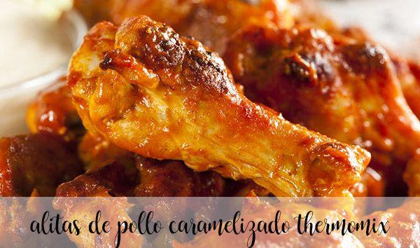 Alitas de pollo en salsa de caramelo con Thermomix