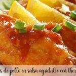 Alitas de pollo en salsa agridulce con Thermomix
