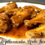 Alitas de pollo con salsa Alfredo Thermomix