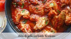 Alitas de pollo con tomate con Thermomix
