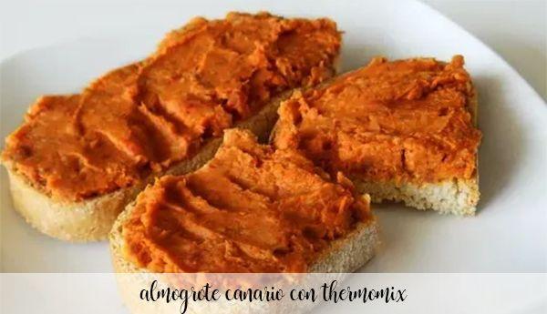 Almogrote canario con Thermomix