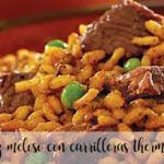Arroz meloso con carrilleras con thermomix