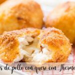 Bolitas de pollo con queso con Thermomix