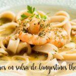 Calamares en salsa de langostinos con Thermomix