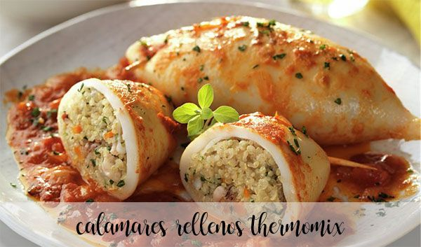 Calamares rellenos Thermomix
