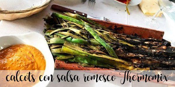 Calçots con salsa romesco Thermomix