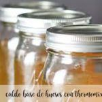 Caldo base de huesos Thermomix