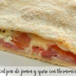 Calzone de jamon y queso con thermomix